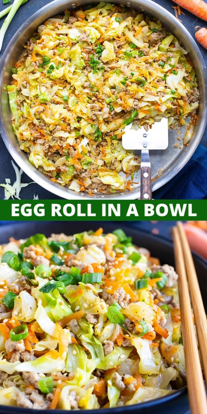 Egg Roll in a Bowl | Keto, Low-Carb, Whole30