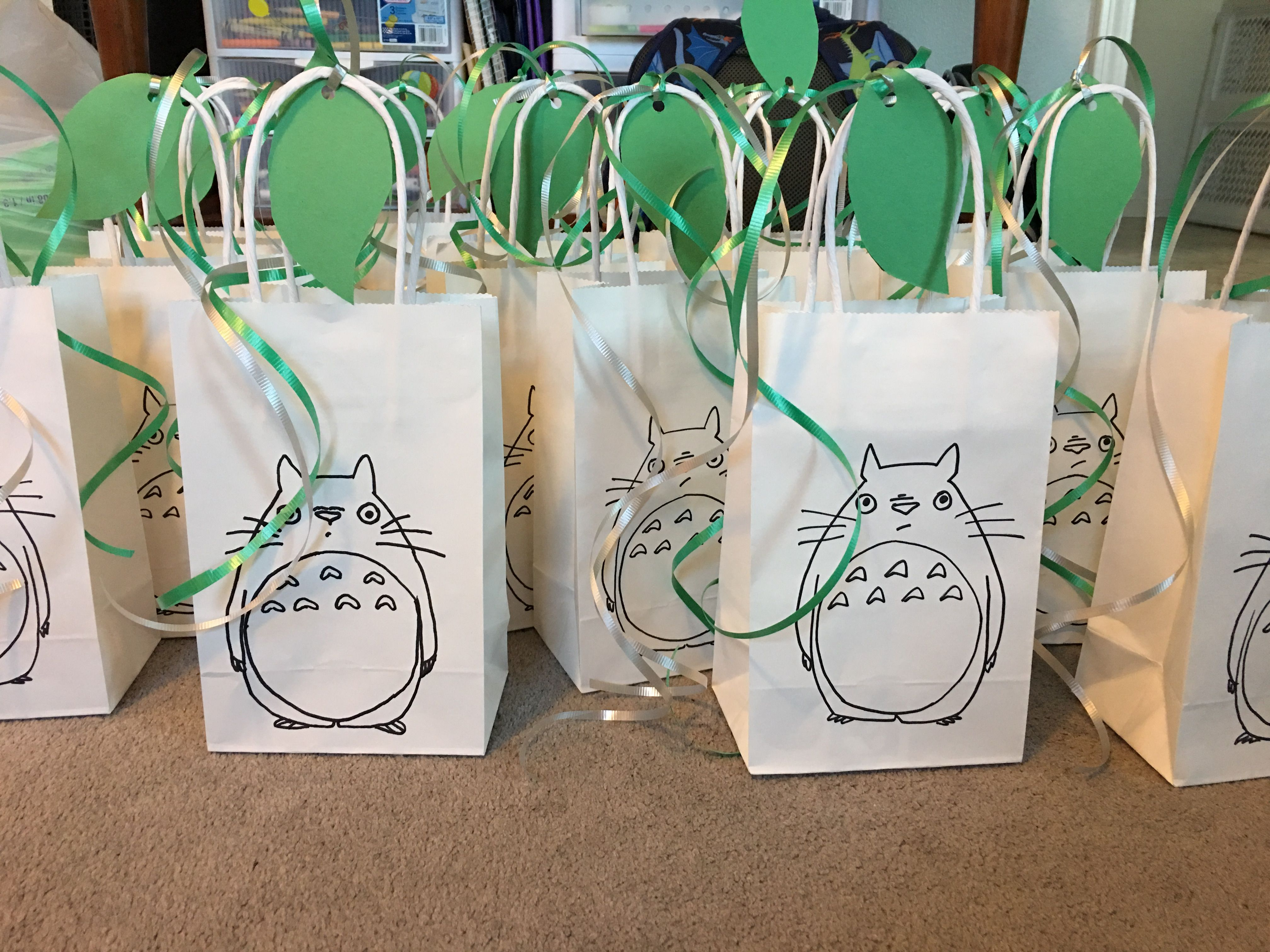 Totoro Party Favor Gift Bags 18th Birthday Ideas For Girls 2nd Parties