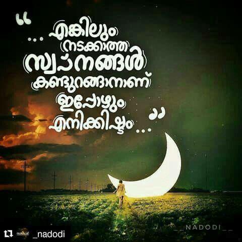 അത് വല്ലാത്തൊരു feel aa😍 | Malayalam quotes, Touching ...