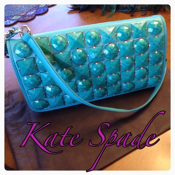 "Spotted while shopping on Poshmark: ""Kate Spade ✨RARE✨Leica Gemstone ShoulderBag Clutch""! #poshmark #fashion #shopping #style #kate spade #Handbags"