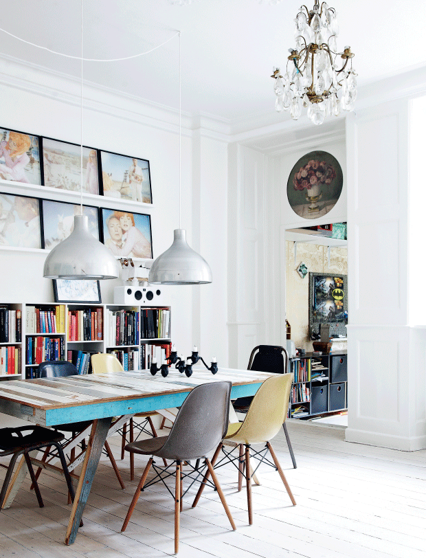 The Copenhagen home of stage designer Nadia is a work in progress — she likes to change things...