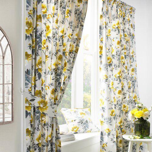Eide Pencil Pleat Room Darkening Curtains Fleur De Lis Living