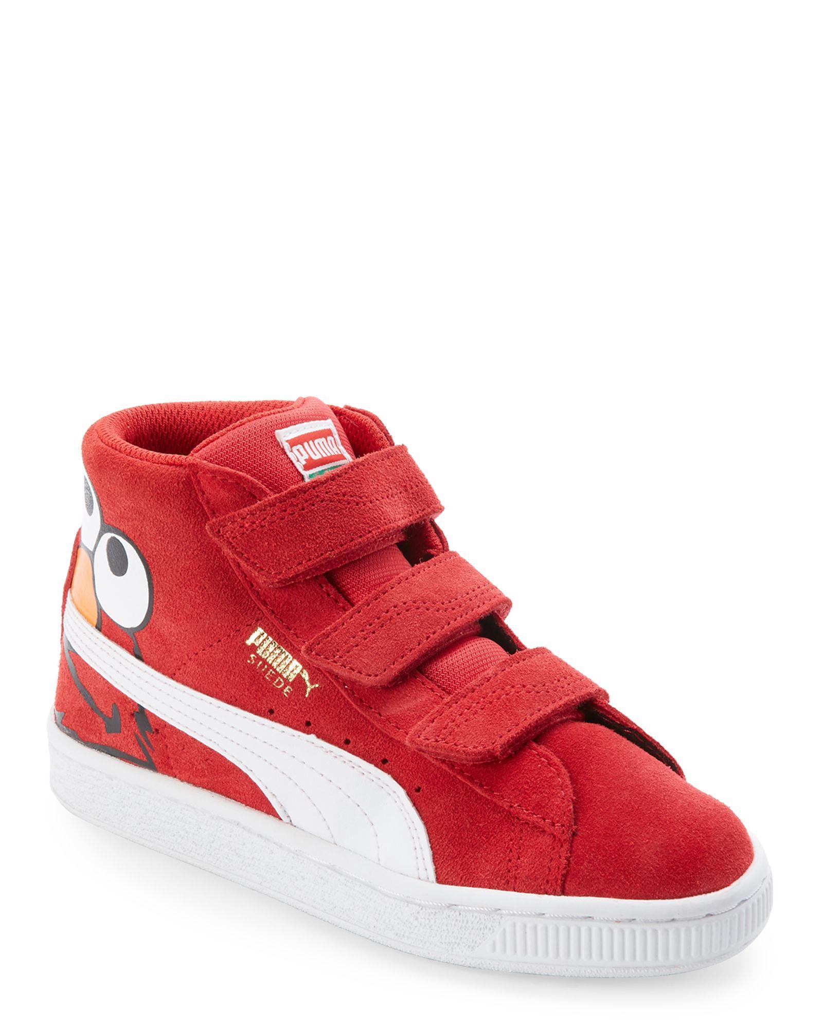 d45c46ee34ae Puma (Kids) Red Suede Sesame Street Elmo Mid Sneakers