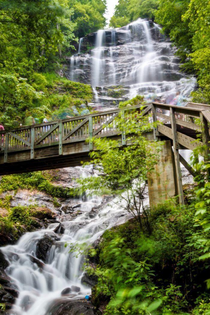 15 Once-In-A-Lifetime Adventures You Can Only Have In Georgia 1. Climb the Staircase at Amicalola Falls #amicalolafalls #northgeorgia #georgia #exploregeorgia #waterfall #ustravel