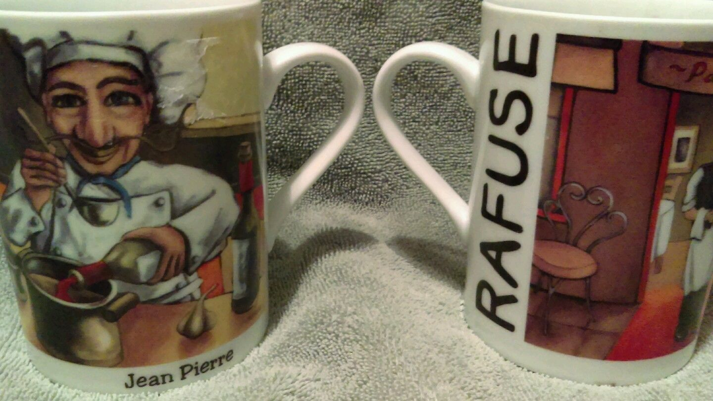 Chef Jean Pierre Will Rafuse Ceramic Coffee Mugs Paloma Cafe Set Of ...
