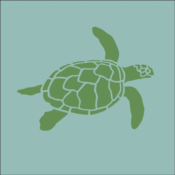 The Artful Stencil Sea Turtle 7 5 In By 10 Craft Stencils Diy Wall Art Decoration Painting Crafting Crafts