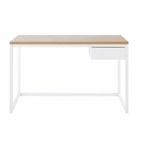Igloo   Schreibtisch Mit 1 Schublade Aus Metall, Weiß