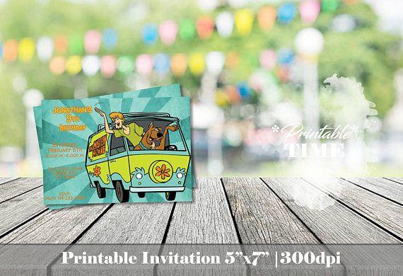 Scooby Doo invitation Scooby Doo and Shaggy invitation Birthday