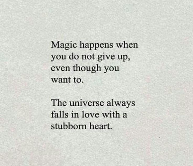 Persistence Quotes The Universe Always Falls In Love With A Stubborn Heart Positive