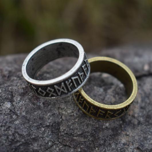Vintage Elder Futhark Asatru Nordic Viking Ring