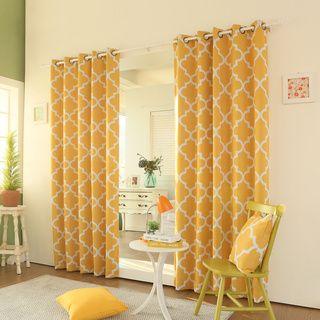 Moroccan Tile 84 Inch Room Darkening Grommet Curtain Panel Pair Ping