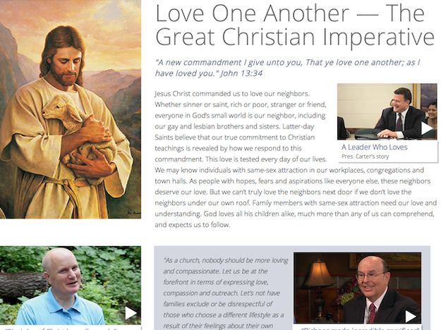 The Church created a website that called for treating gays and lesbians with compassion. It also stated sexuality was not a choice.