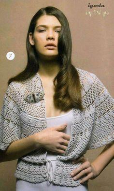Crochetemoda: Crochet - Casaqueto Branco VI