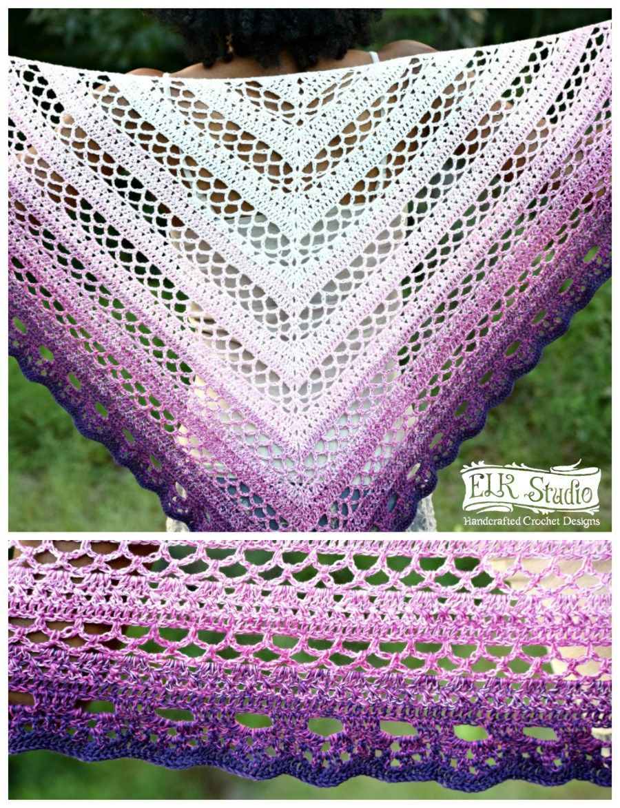 The Southern Beauty Shawl | Chal, Ganchillo y Chal de ganchillo