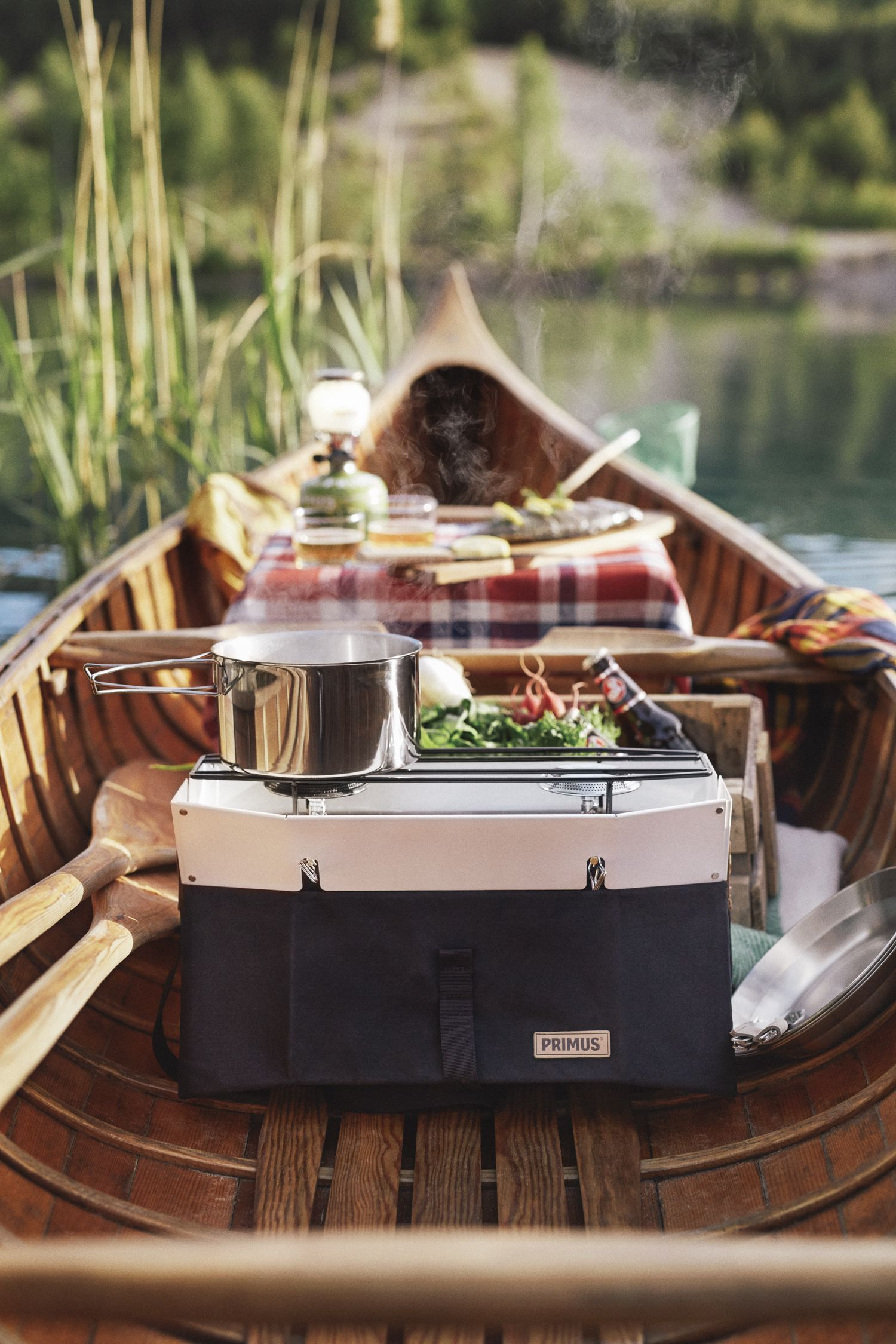 A romantic picnic for two in a canoe or boat is a perfect ...