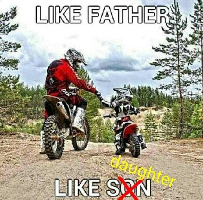 Like Father Like Daughter Dirtbikes Mobil Fotografi Air