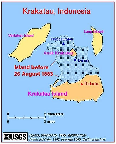 Rakata is a collapsed stratovolcano of the Indonesian island of ...