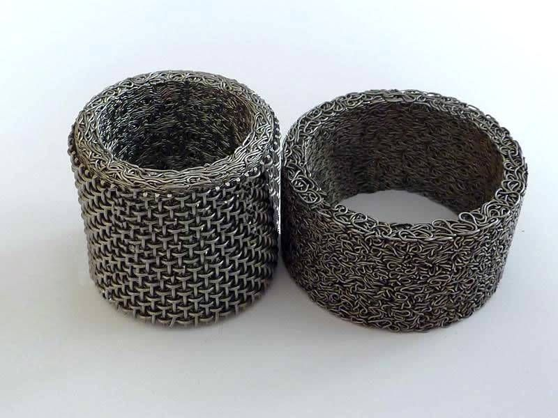 Compressed Knitted Mesh Is Used With Woven Wire Mesh Knitted Wire Wire Mesh Knitted