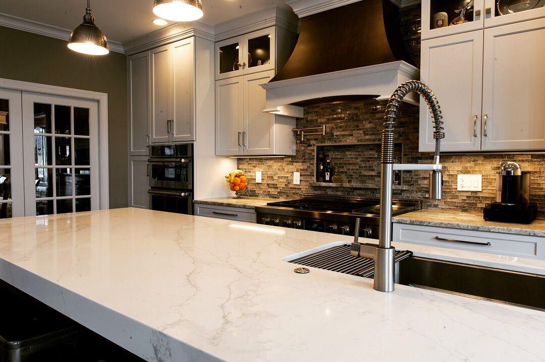 Marble & Quartz Kitchen   Kitchen island table, Quartz ...