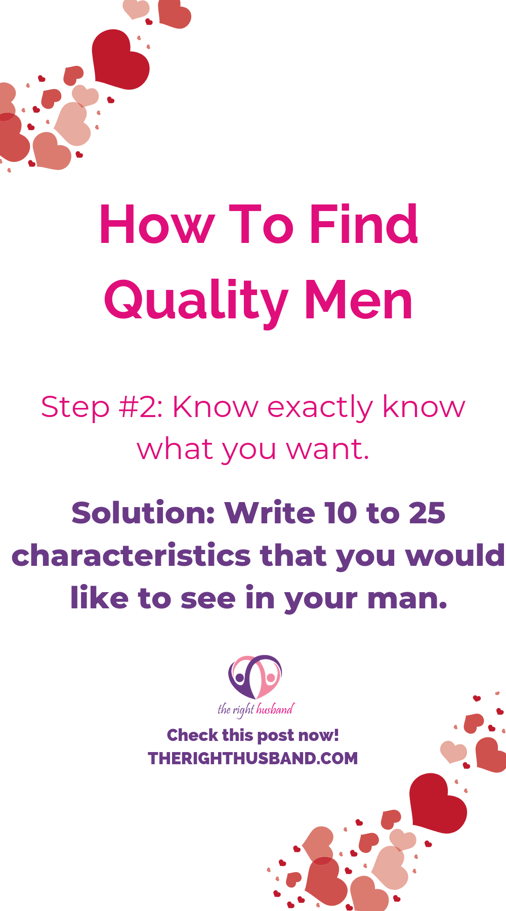How to find the right man for you