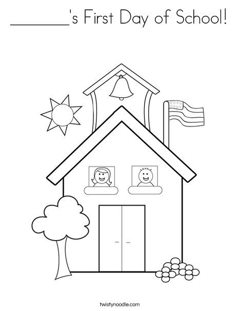 S First Day Of School Coloring Page From Twistynoodle Com