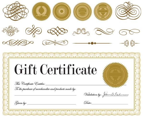 Vector gift certificate and a badge vector download free certificate and badge jewelry box 01 vector yelopaper Images
