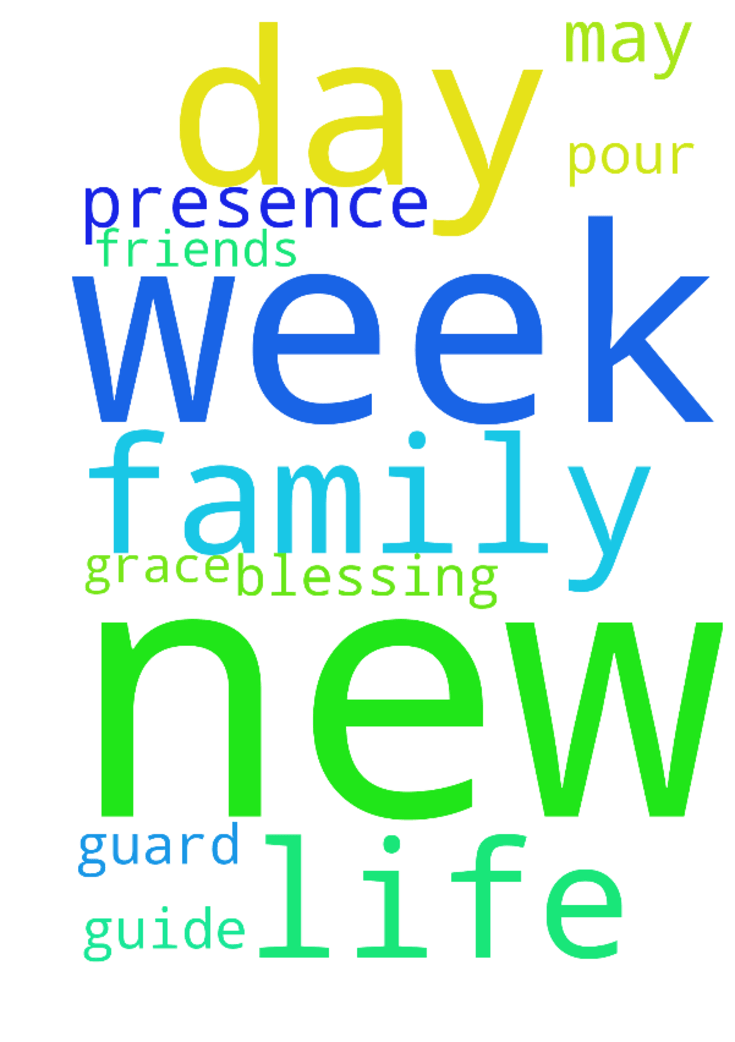 Thank you Father God for the new week, new day and - Thank you Father God for the new week, new day and ask for your presence in my life, family and friends. May you guide, guard and pour your grace and blessing unto to us. In Jesus Name, Amen. Posted at: https://prayerrequest.com/t/yg3 #pray #prayer #request #prayerrequest