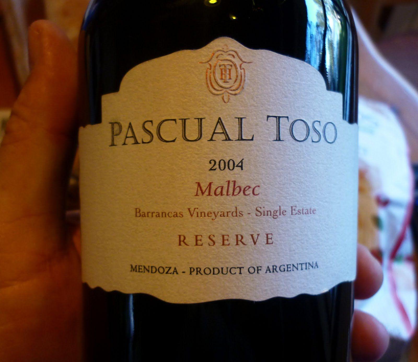 93 Pascual Toso 2007 Alta Reserva Las Barrancas Vineyards