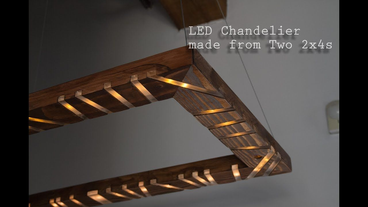 How to make an led chandelier with music visualizer out of 2x4s