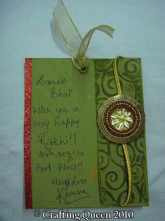 Attractive Card Making Ideas For Raksha Bandhan Part - 4: CraAftINg QuEEn: Rakhi Card! Cards DiyHandmade ...