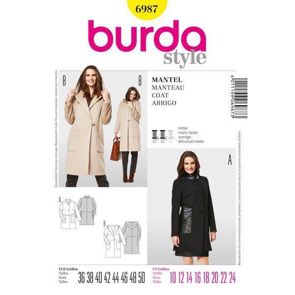 Modell 6987 Burda 03/2013. Abrigo. con capucha | Costura / Sewing ...
