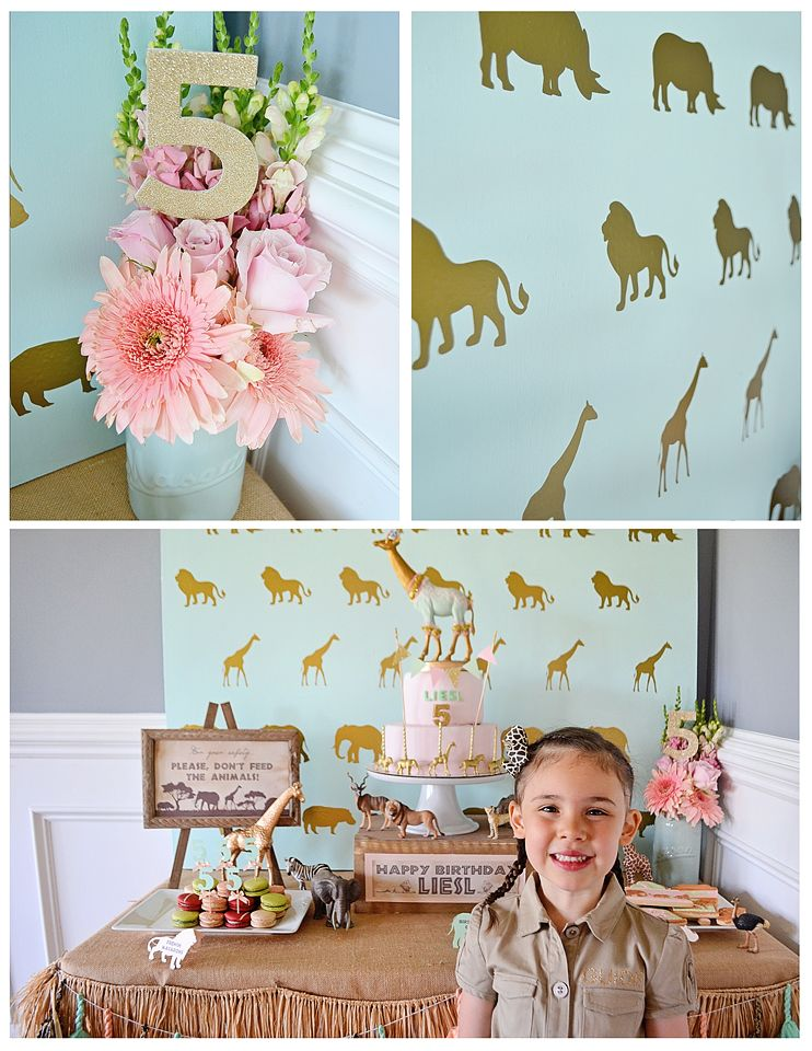 L really wants a zoo safari party & this is so cute & a little more grown up for her age !