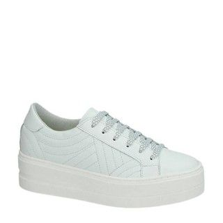 Tamaris leren platform sneakers wit Damesschoenen.nl