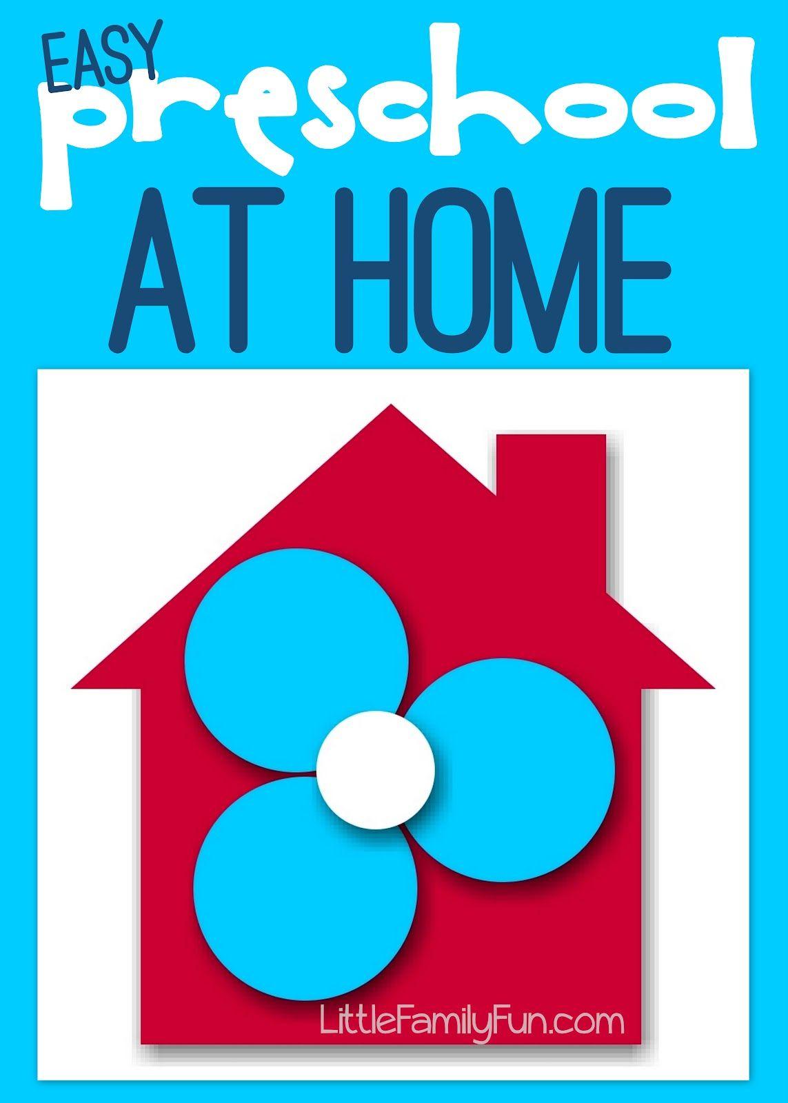 Preschool At Home Plan Amp Details