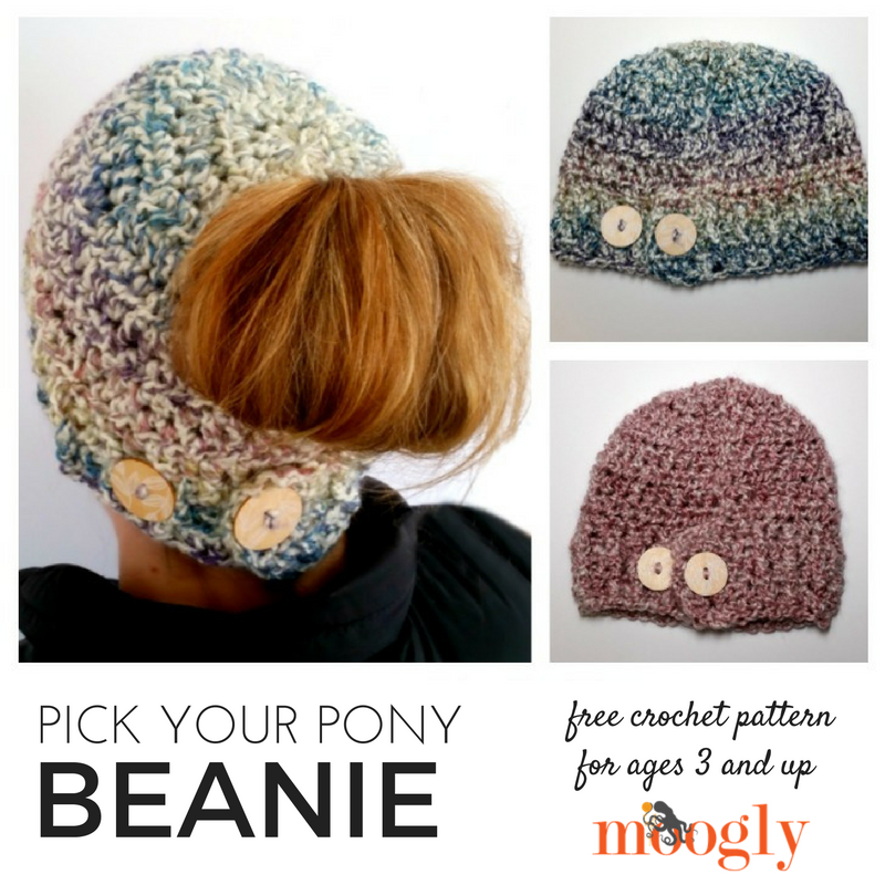 Pick Your Pony Beanie Free Pattern From Moogly! I love how this one ...