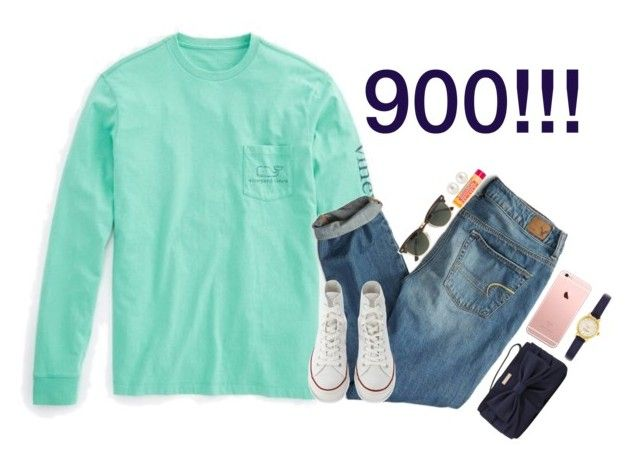 """""""Thanks for 900!!!"""" by kaleighgranger ❤ liked on Polyvore featuring Mode, Vineyard Vines, American Eagle Outfitters, Kate Spade, J.Crew, Henri Bendel, Burt's Bees und Converse"""