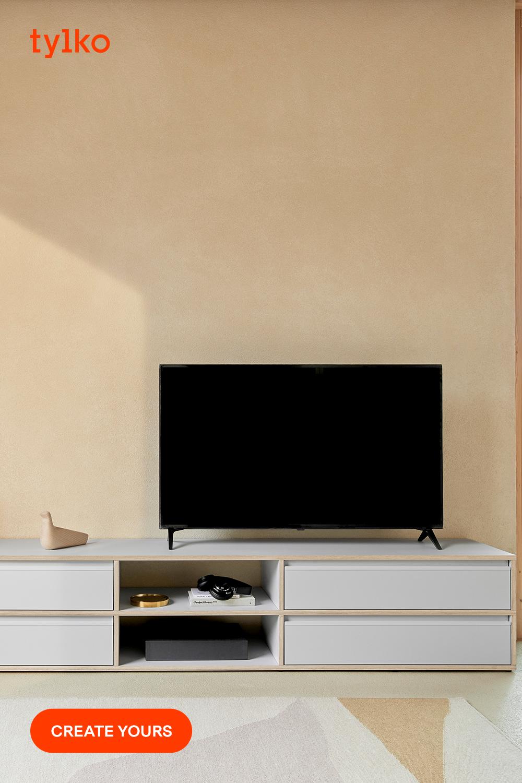Anpassad Tv Stativ I Gra Plywood Modern Skandinavisk Stil Skraddarsydd Tv Stand Scandinavian Style Modern