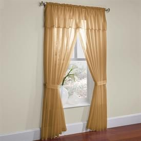 Brylanehome Studio Sheer Voile 5 Pc One Rod Curtain Set All In