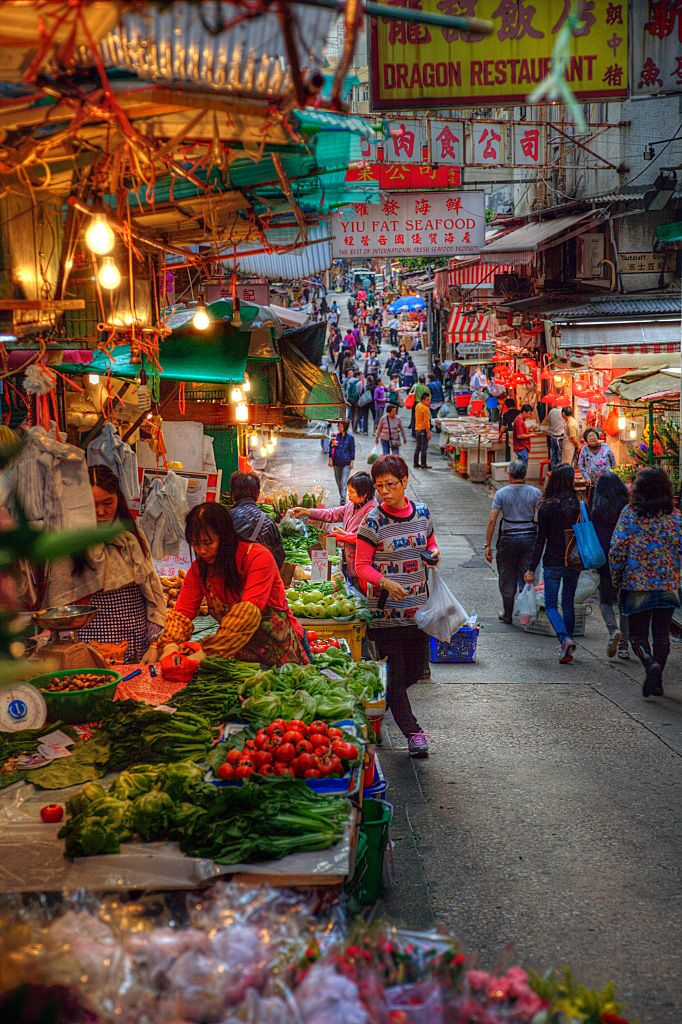 My first go to place in Hong Kong would the Hong Kong Street Market. I love grocery shopping!
