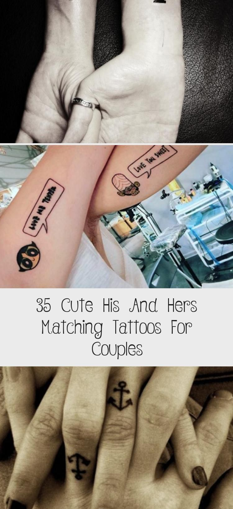 35 Cute His And Hers Matching Tattoos For Couples