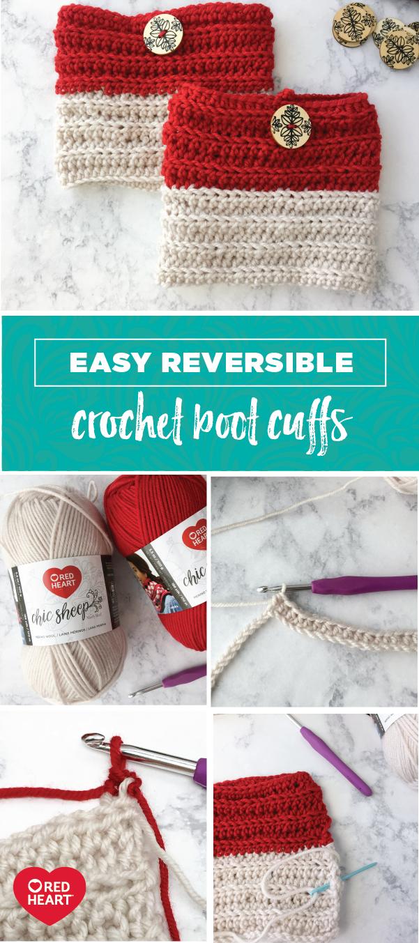 Trendy Beginner Crochet Boot Cuffs That Work Up Quick! | Invierno y ...