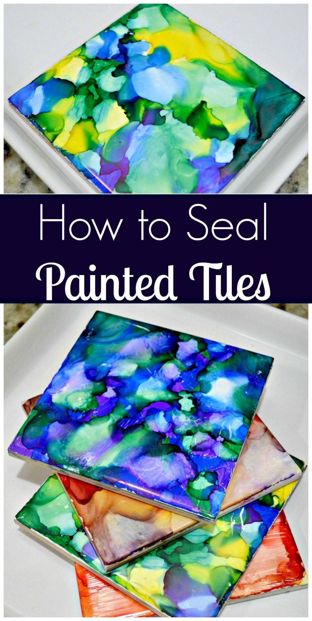 How To Seal Painted Tiles is part of Sharpie crafts, Alcohol ink crafts, Crafts, Sharpie art, Alcohol ink art, Fun crafts - This post contains affiliate links  If you click one and make a purchase, I may receive a commission! I was so excited to see a massive response to my post about painting tiles with Sharpies and Rubbing Alcohol! So happy you all liked it and welcome to anyone new who found my