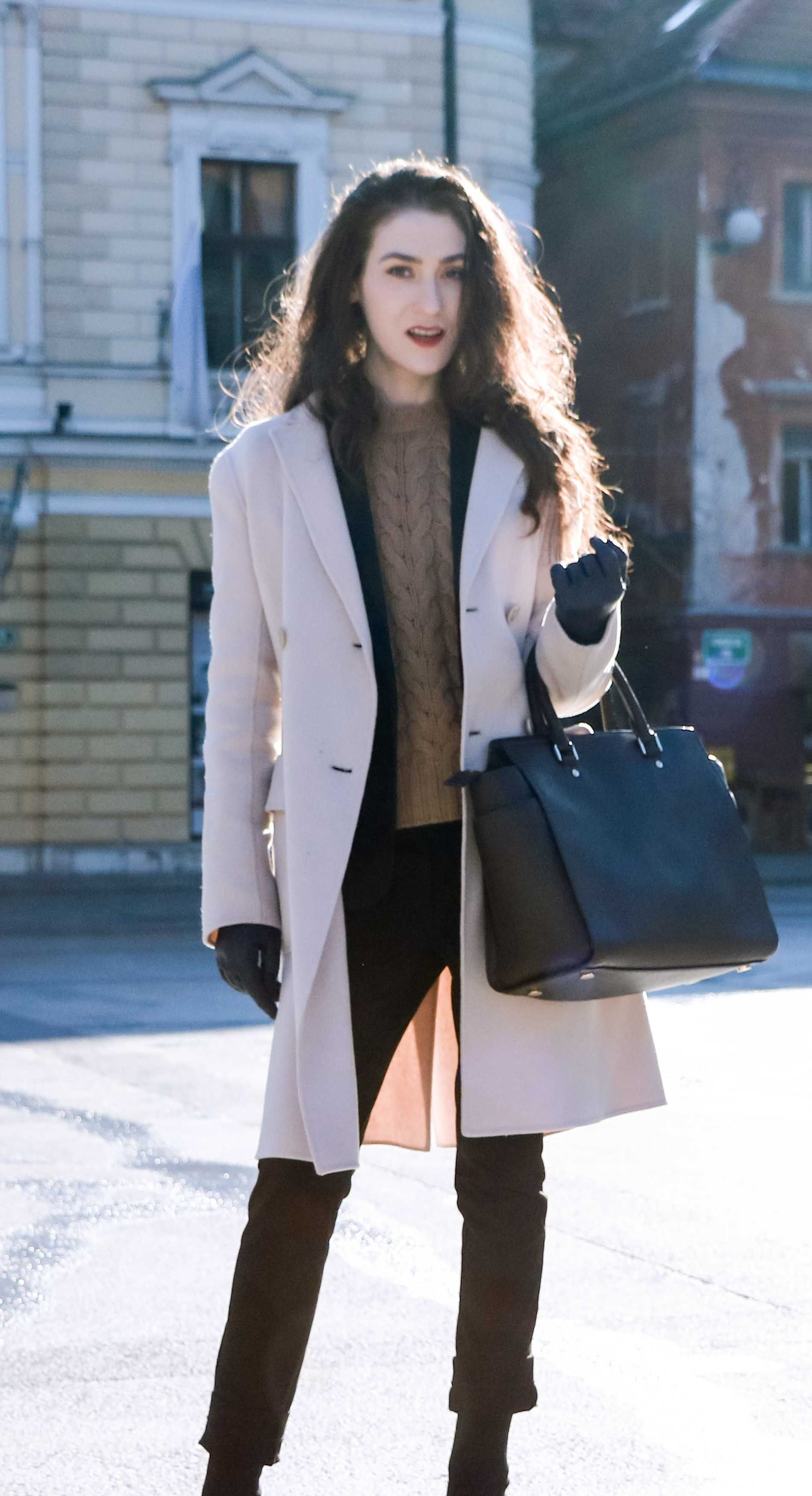 Fashion Blogger Veronika Lipar of Brunette from Wall Street on how to style  sweater for work this winter d0b56d2d8efe4