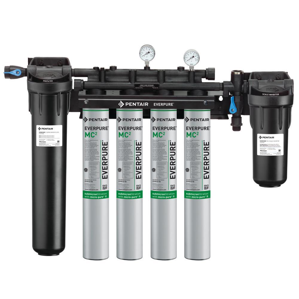 Everpure Hf Csr Combination Water Filtration System Ev943710 The Home Depot In 2020 Water Filtration Water Filtration System Everpure