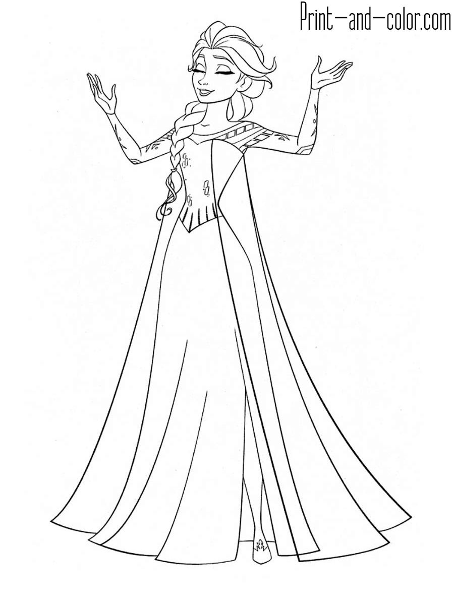 Elsa 2 Coloring Pages Coloring pages allow kids to
