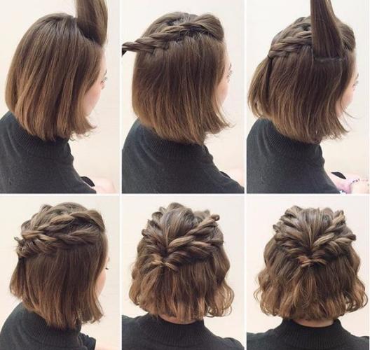 Como hacer una coleta con pelo corto