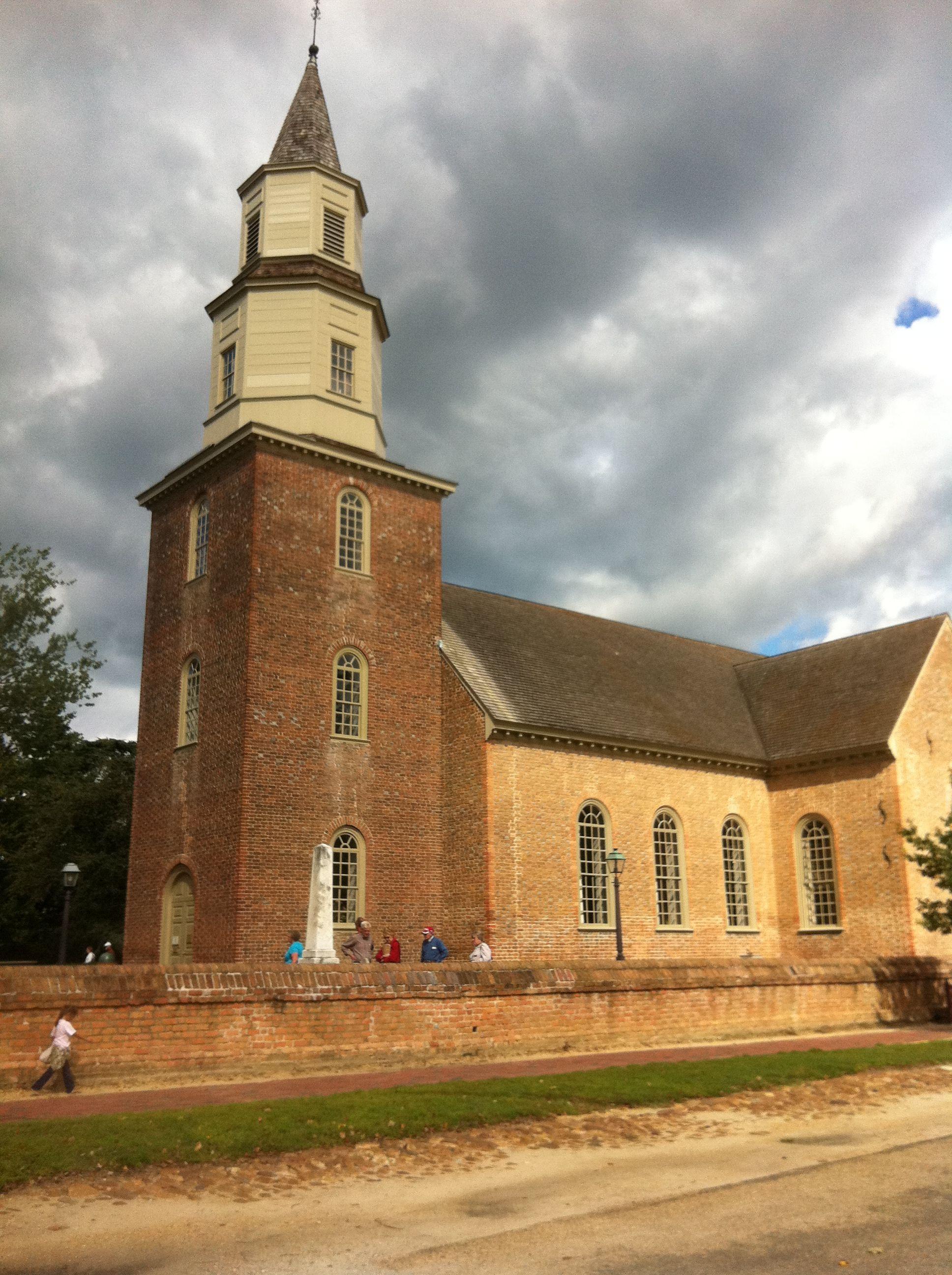 Bruton Parish, Williamsburg, Virginia. One of the oldest ...