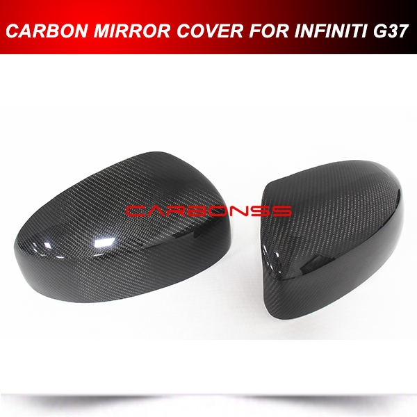 88.98$  Buy now - http://alibyb.worldwells.pw/go.php?t=32595242655 - PAIR CARBON FIBER DIRECT ADD-ON MIRROR COVER FOR INFINITI G25 G37 Q40 Q60  2009-2015 88.98$