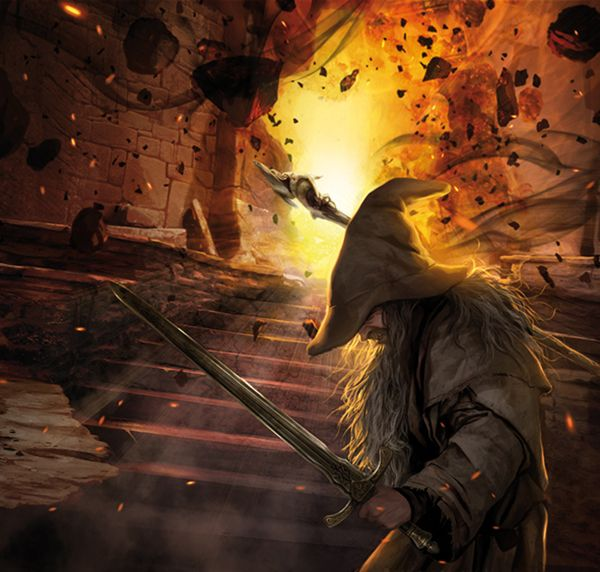 """"""" """"You cannot pass,"""" he said. The orcs stood still, and a dead silence fell. """"I am a servant of the Secret Fire, wielder of the flame of Anor. You cannot pass. The dark fire will not avail you, flame of Udûn. Go back to the Shadow! You cannot pass."""" """" -JRR Tolkien"""