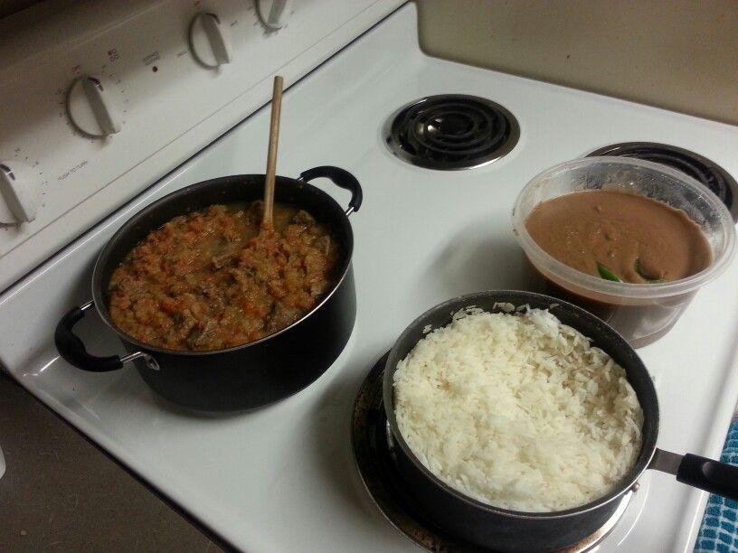 Haitian legume, sos pwa, and white rice | haitian food